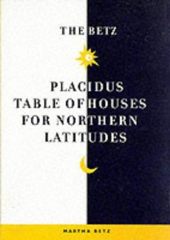 The Betz Table of Houses for Northern Latitudes (Open Library)