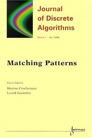 Matching Patterns (Journal of Discrete Algorithms)