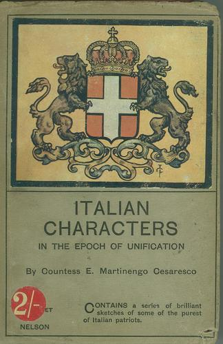 Italian Characters in the Epoch of Unification