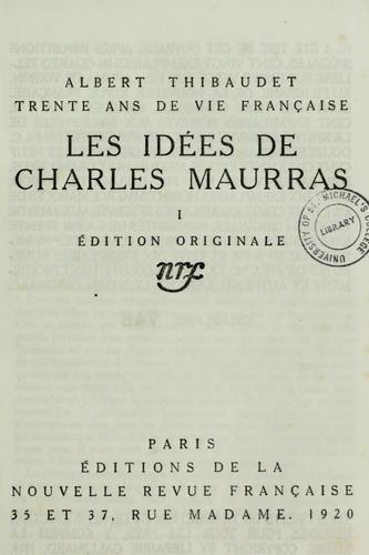 Les idées de Charles Maurras