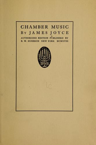 Chamber music by James Joyce