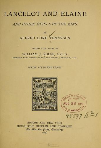 Download Lancelot and Elaine, and other Idylls of the king