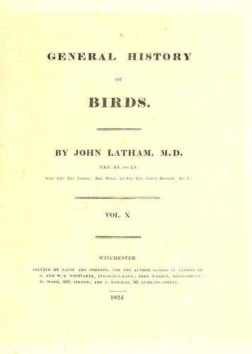 Download A general history of birds.