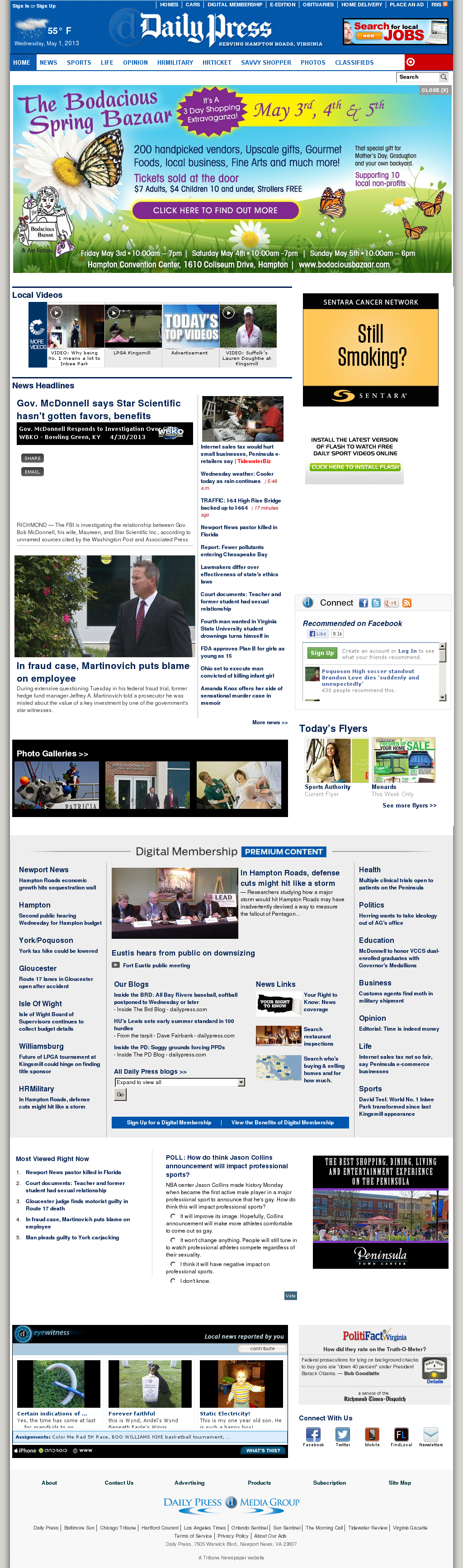 (Hampton Roads) Daily Press at Wednesday May 1, 2013, 12:04 p.m. UTC