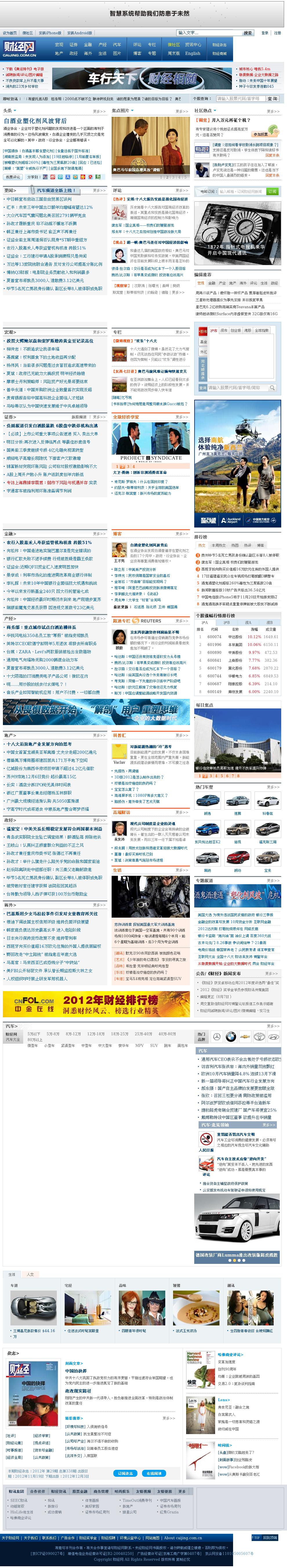 Caijing at Tuesday Nov. 20, 2012, 11:04 p.m. UTC