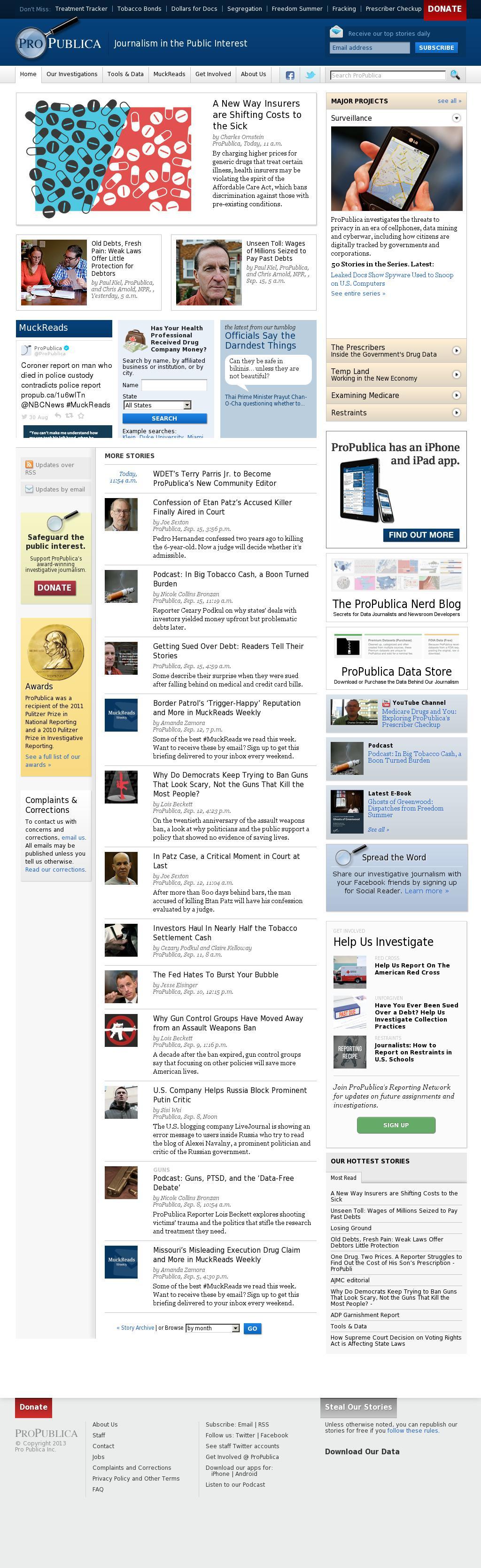 ProPublica at Wednesday Sept. 17, 2014, 10:14 p.m. UTC