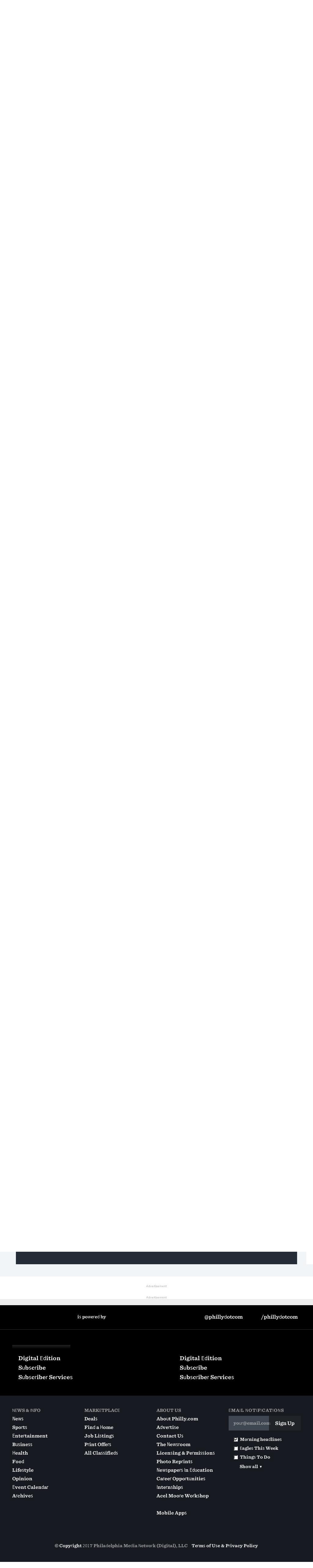 philly.com at Wednesday Oct. 11, 2017, 5:11 a.m. UTC