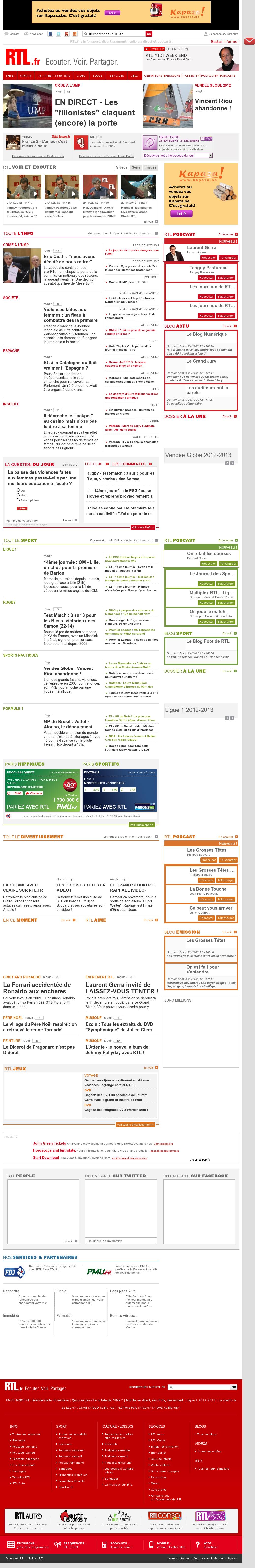 RTL at Sunday Nov. 25, 2012, 12:25 p.m. UTC