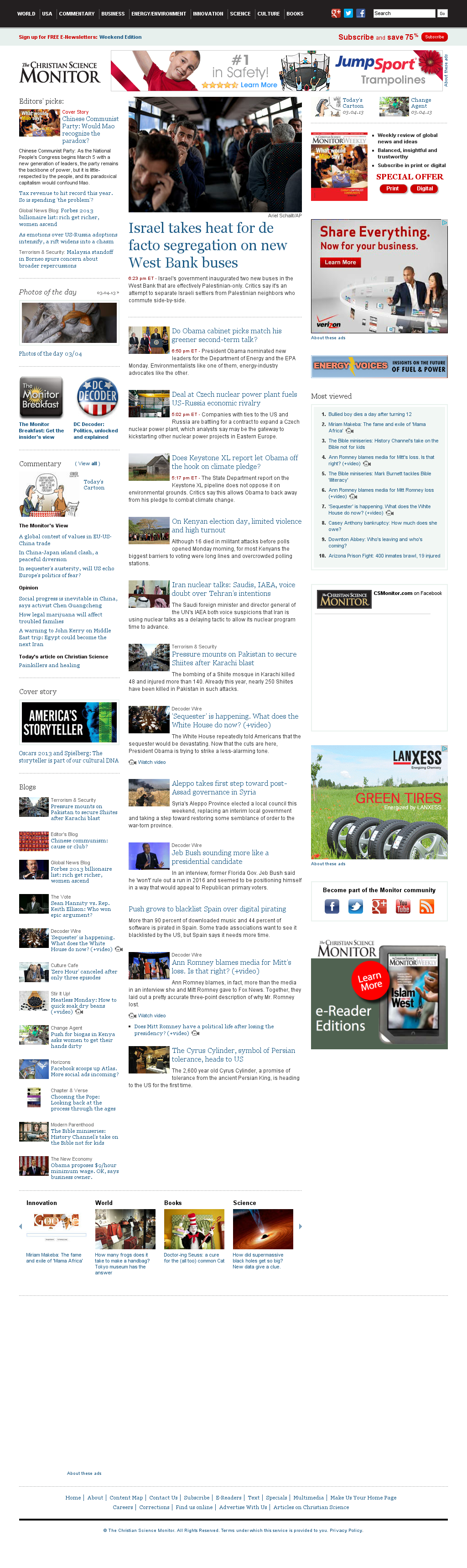 The Christian Science Monitor at Tuesday March 5, 2013, 12:04 a.m. UTC