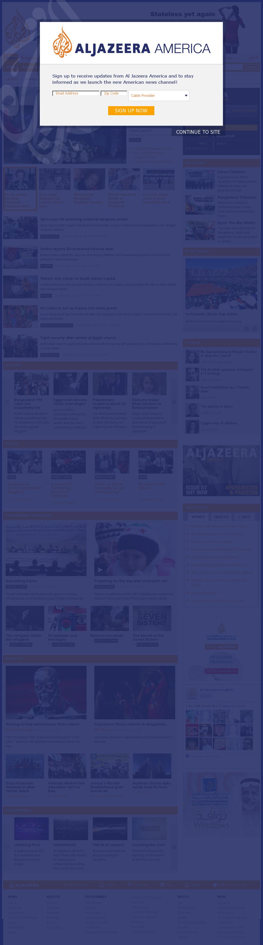 Al Jazeera (English) at Tuesday April 9, 2013, 2:11 a.m. UTC