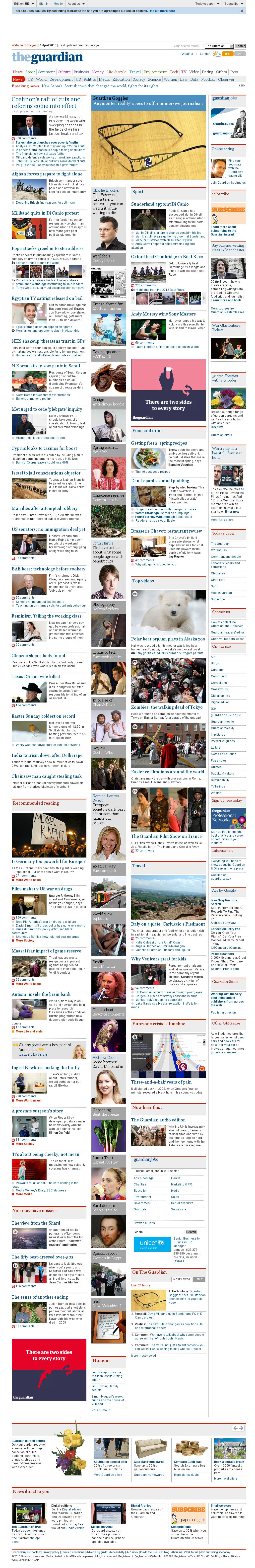 The Guardian at Monday April 1, 2013, 8:09 a.m. UTC