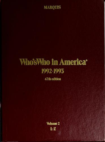 Who's who in America, 1992-1993 by