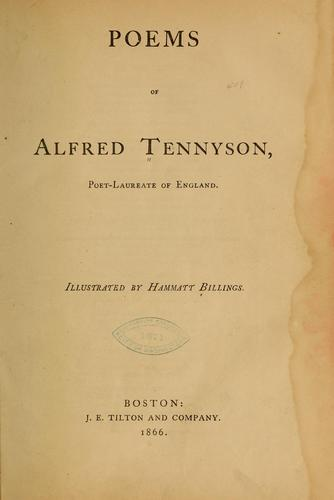 Poems of Alfred Tennyson .. by Alfred, Lord Tennyson