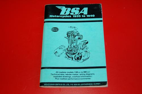 BSA motorcycles 1935 to 1940 by
