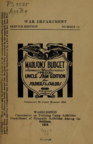 Madison's budget by James Madison